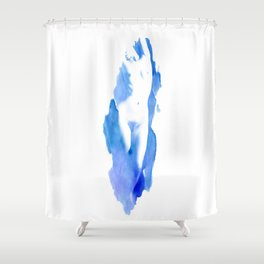 Madame Blue Shower Curtain
