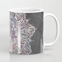 Dreaming Mandala - Magical Purple on Gray Coffee Mug