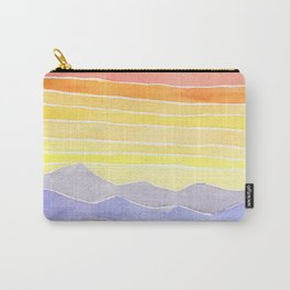 Harmony Hills Watercolor Landscape Painting Carry-All Pouch