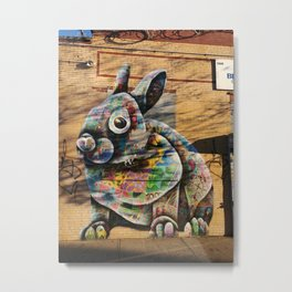 Bunny Rabbit Graffiti Art Metal Print