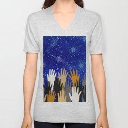 Reach For The Stars  Unisex V-Neck