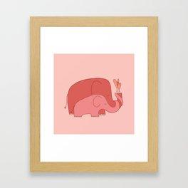 Pink Elephants Framed Art Print