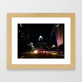 The City Lights of Austin Framed Art Print