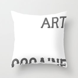 Cocaine Coke Coca Line Blow Drug Sniff Snort Gift Throw Pillow
