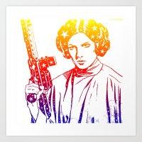 princess leia Art Prints featuring Princess Leia by mchlsrr
