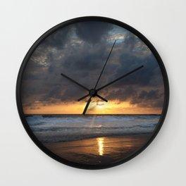 Sunset on Karon Beach Wall Clock