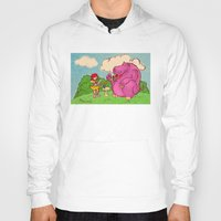 hippo Hoodies featuring Hippo by Rafael Paschoal