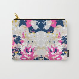 Michel - Abstract, girly, trendy art with pink, navy, blush, mustard for cell phones, dorm decor etc Carry-All Pouch