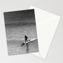 Small wave surfing. Stationery Cards