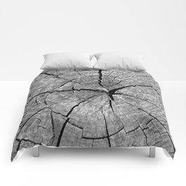 Weathered Old Wood Texture Comforters