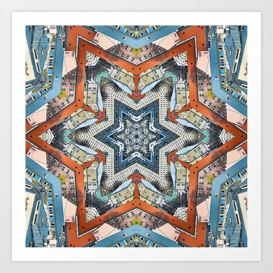 Abstract Geometric Structures Art Print