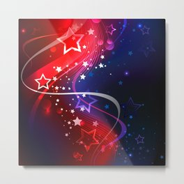 Background on Independence Day Metal Print