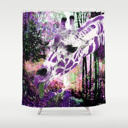 GIRAFFE FANTASY ENCOUNTER FOREST DREAM Shower Curtain