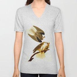 Black Winged Hawk Illustration Unisex V-Neck