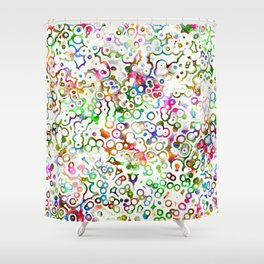 Abstract Microbes Shower Curtain