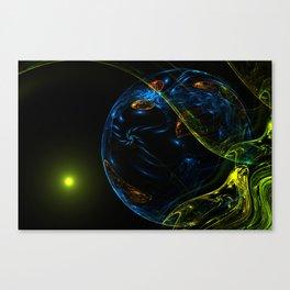 Fantastic unknown blue planet Canvas Print