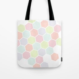 Pastel Buzz Tote Bag