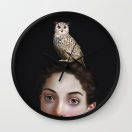 Miss Owl Wall Clock