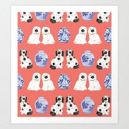 Staffordshire Dogs + Ginger Jars No. 3 Art Print