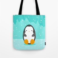 penguin Tote Bags featuring Penguin by eDrawings38