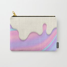 PASTEL RAINBOW HOLOGRAPHIC DRIP Carry-All Pouch