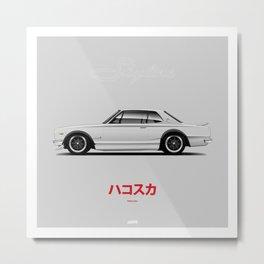 Nissan Skyline KPGC-10 (Hakosuka GT-R) Metal Print