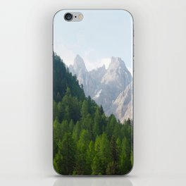 Forest Pines and Mountain Spikes iPhone Skin