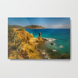 Small but picturesque abandoned beach in Ibiza Metal Print