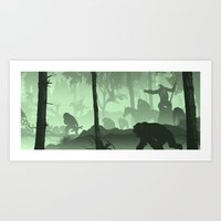planet of the apes Art Prints featuring Apes Together Strong by Ape Meets Girl