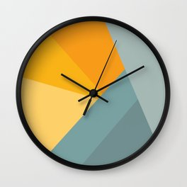 Abstract Mountain Sunrise Wall Clock