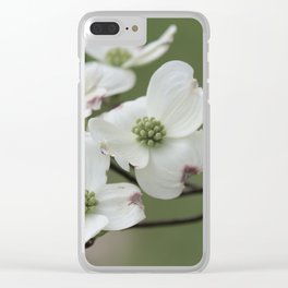 Spring Dogwood Tree Clear iPhone Case