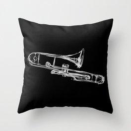 Piston Valve Trombone Throw Pillow