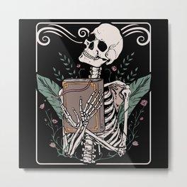Tarot Card Skeleton Nu Goth Occult Witchcraft Metal Print