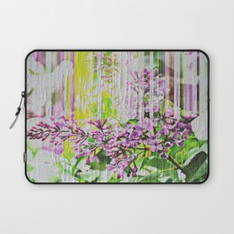 White Washed Painted Lilac Laptop Sleeve