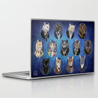 mew Laptop & iPad Skins featuring Doctor Mew by Jenny Parks