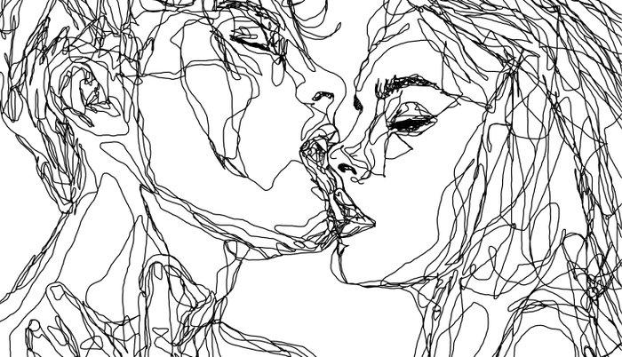 kiss more often (B & W) Pillow Sham