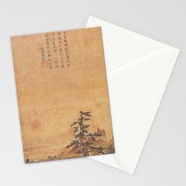 Sesshu Toyo - Lake Pavillion, Spring View (late 15th Century) Stationery Cards