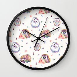 Baby Hedgehogs Wall Clock