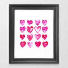 Heart Speckle Framed Art Print
