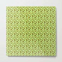 Mint Green Avocado Pattern Metal Print