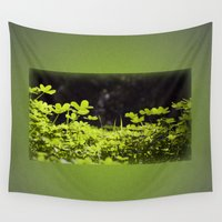 clover Wall Tapestries featuring Clover by Thomas Ray Publishing
