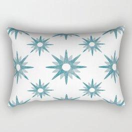 Arty flower Blue Rectangular Pillow