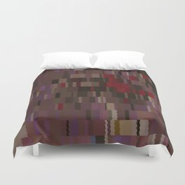Chocolate and Chillies brown and red Digi fractal Duvet Cover
