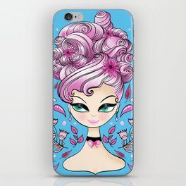 Strawberry Curls On A Green Eyed Girl iPhone Skin