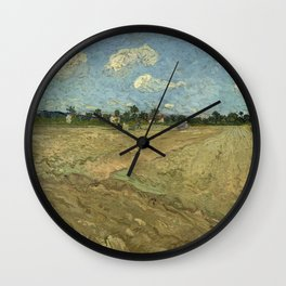 Ploughed fields ('The furrows') Wall Clock