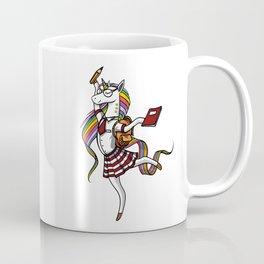 Unicorn Schoolgirl Magical Student Coffee Mug