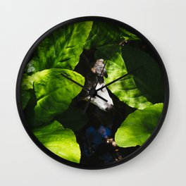 Fred in the Skunk Cabbage Wall Clock