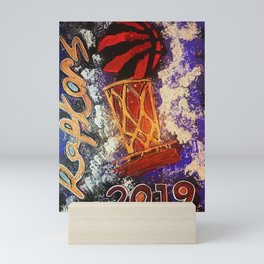 raptors 1,champion,basketball,gold,poster,wall art,2019,winners,NBA,finals,toronto,canada,painting Mini Art Print
