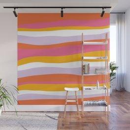 cali beach stripes Wall Mural
