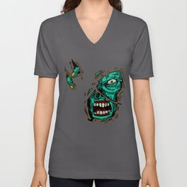 Zombie Zombieland Monster Beast Rotter Undead Gift Unisex V-Neck
